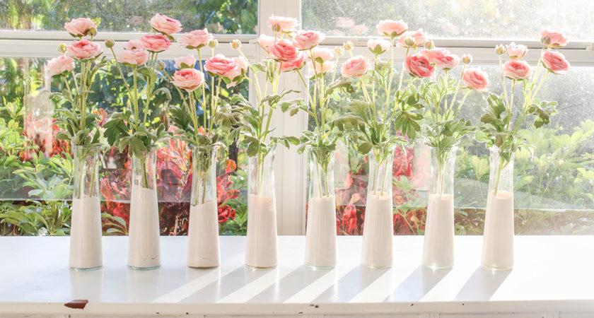 Diy Pink Dip Dyed Dollar Store Vases House Mix